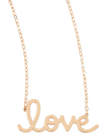 14k Rose Gold Pure Love Necklace