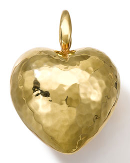 18k Gold Large Heart Charm