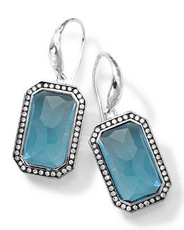 Ippolita Sterling Silver Stella London Blue Topaz Earrings with Diamonds