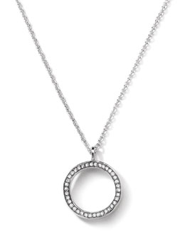 Ippolita Sterling Silver Rock Star Circle Pendant with Diamonds