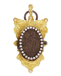 Armenta Old World Shield Locket with Diamonds