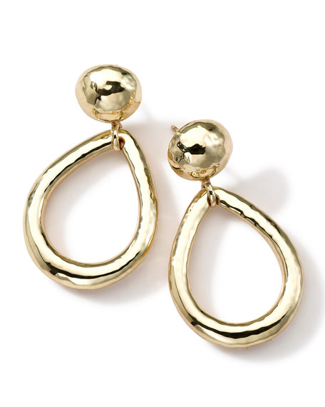 18k Gold Glamazon Medium Dot & Teardrop Post Earrings