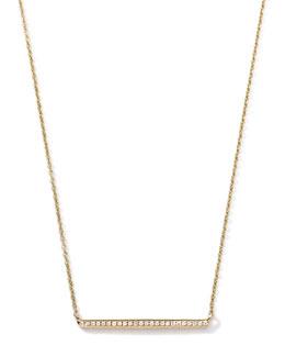 Ippolita 18k Gold Mini Stardust Horizontal Bar Necklace with Diamonds