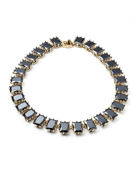 Rectangle Estate Necklace, Black