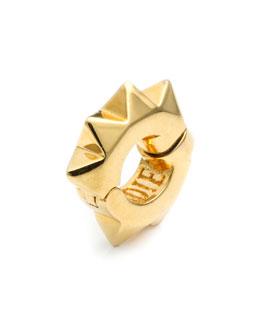 Gold Plated Pyramid Ear Cuff