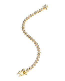 Gold-Plated Pave Crystal Mini Cone Bracelet