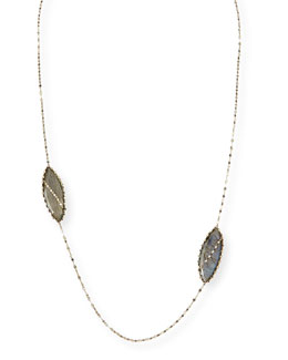 Double Gloss Labradorite Necklace