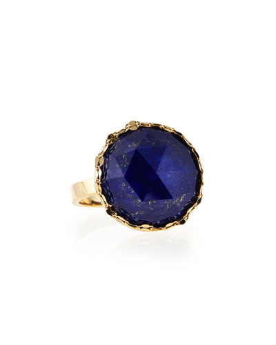 Splash Circle Lapis Ring