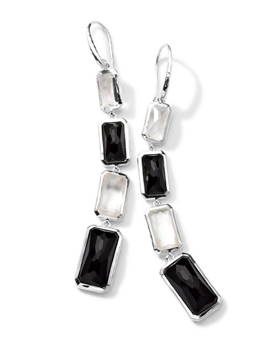 Sterling Silver Wonderland 4-Stone Drop Earrings in Astaire