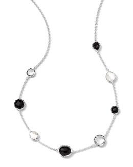 "Ippolita Sterling Silver Wonderland Mini Gelato Short Station Necklace in Astaire, 16-18"""