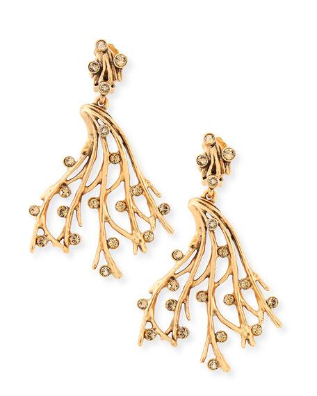 Crystal Vine Clip-On Earrings