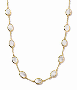 Ippolita Polished Rock Candy 18k Gold Confetti Necklace in Mother-of-Pearl, 16""