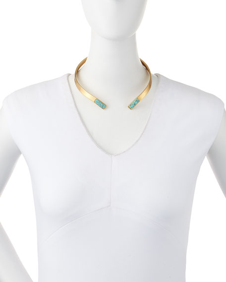 Irissa Turquoise-Inlay Choker Necklace