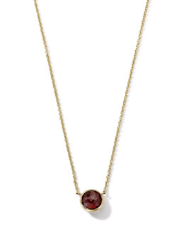 18K Gold Mini-Lollipop Birthstone Necklace (January), 16-18