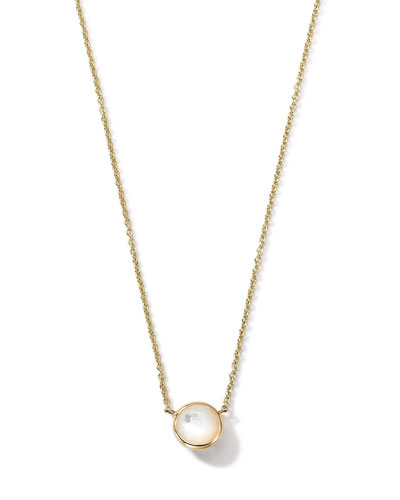 18K Gold Mini-Lollipop Birthstone Necklace (June), 16-18