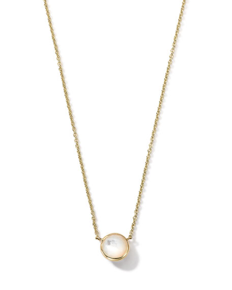 18K Gold Mini-Lollipop Birthstone Necklace (June), 16-18""