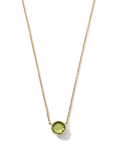 18K Gold Mini-Lollipop Birthstone Necklace (August), 16-18""