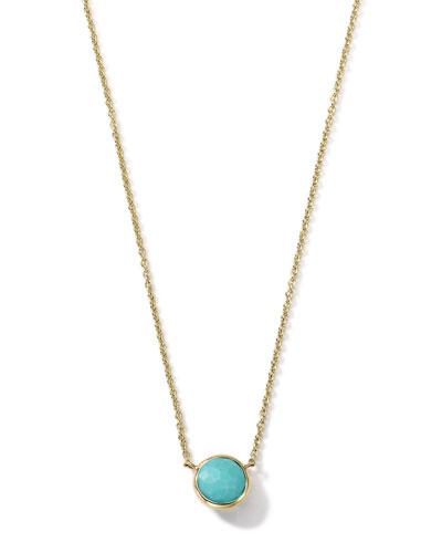 "18K Gold Mini-Lollipop Birthstone Necklace (December), 16-18"""