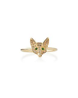 Pave Diamond Fox Ring