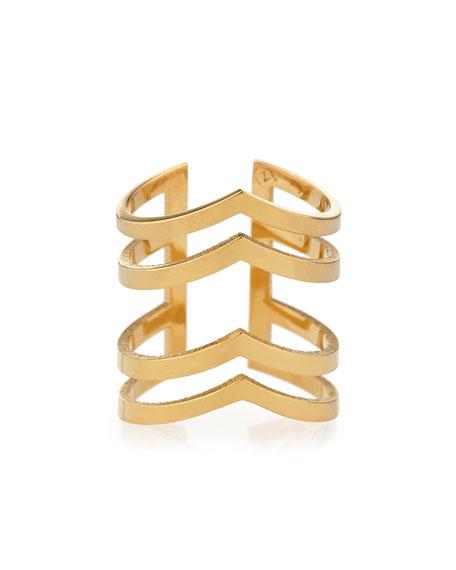 Margot V'd Four-Band Ring
