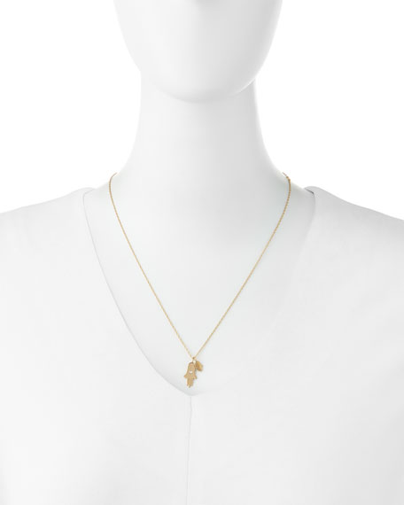 Faith Double Hamsa Charm Necklace