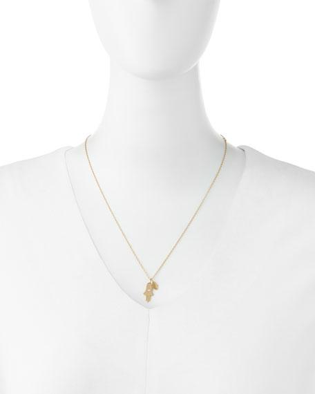 Faith Double Hamsa Charm Necklace