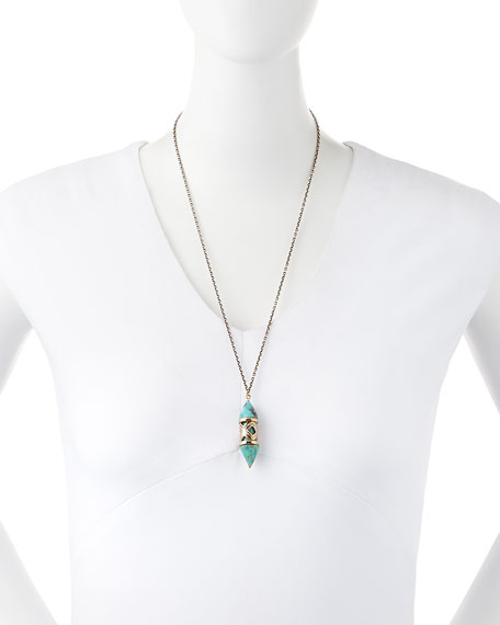 Turquoise & Bronze Pendant Necklace