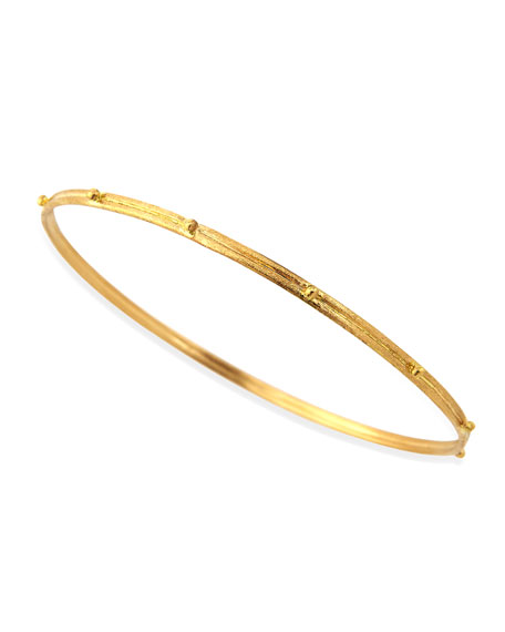 Armenta 18k Gold Granulated Bangle