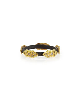 Champagne Diamond and Scroll Stackable Ring
