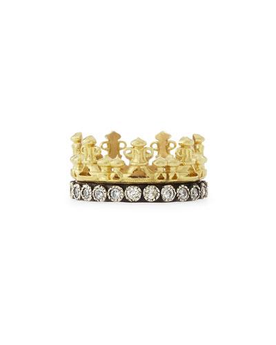 18k Gold & Midnight Diamond Crown Ring