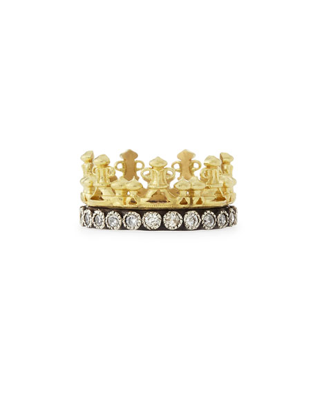 Armenta 18k Gold & Midnight Diamond Crown Ring