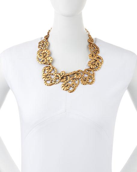 Golden Swirl Statement Necklace