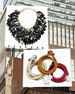 Tanzu Dark Horn Layered Chain Leaf Necklace