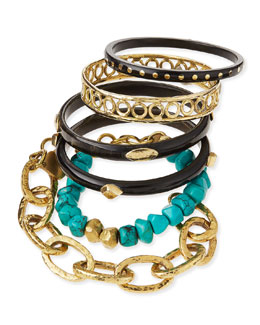 Zito Dark Horn Bangles, Set of 6