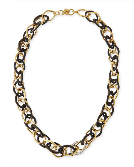 Ashley Pittman Kamba Dark Horn Necklace