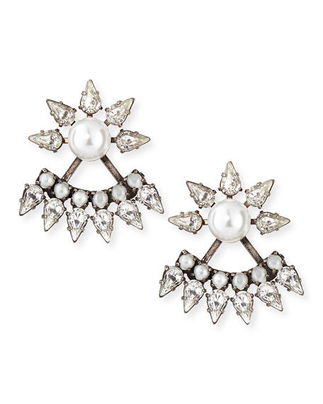 Tessie Crystal Jacket Earrings