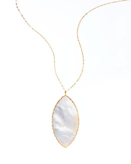 Isabella White Mother-of-Pearl Pendant Necklace
