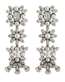 Tilly Pearl & Crystal Earrings