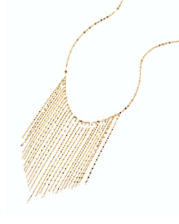 14k Long Fringe Necklace