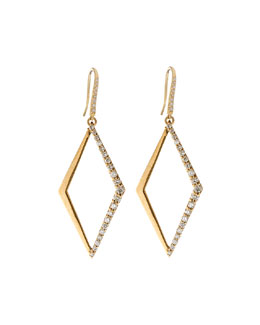 14k Small Diamond Hoop Earrings