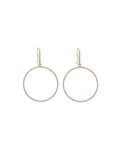 Mirage Small Round Diamond Hoop Earrings