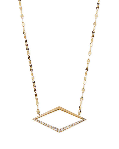 14k Mirage Diamond Pendant Necklace