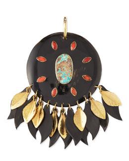 Ndoto Dark Horn Medallion Pendant