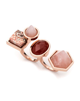 Rose Golden-Plated Two-Finger Composition Ring