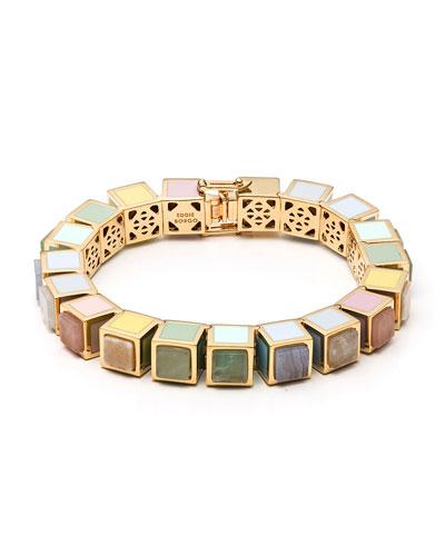 Multi-Stone Cube Bracelet