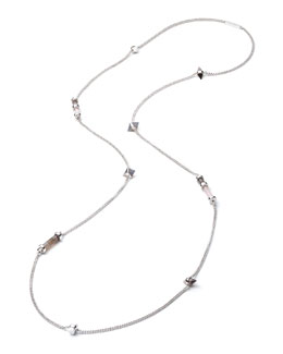 Silvertone Mixed-Station Long Necklace