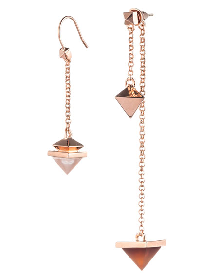 Pyramid Pendulum Drop Earrings