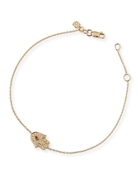 81a79fc6b7 Sydney Evan 14k Gold Diamond Mini Hamsa Bracelet
