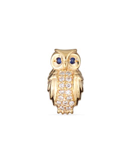 Owl Diamond Single Stud Earring