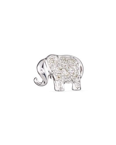 Elephant Diamond Single Stud Earring